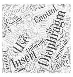 Diaphragm birth control word cloud concept vector