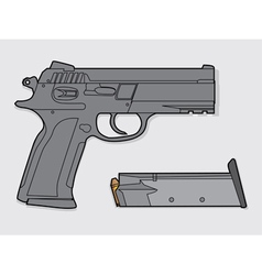 Gun and magazine vector image