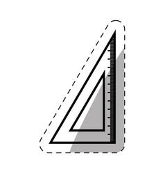 School ruler triangle thin line vector