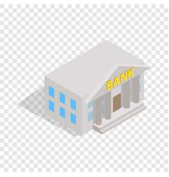 Bank building isometric icon vector