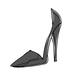 A high heel is placed vector