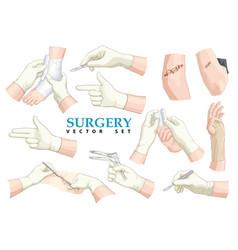 surgery set vector image