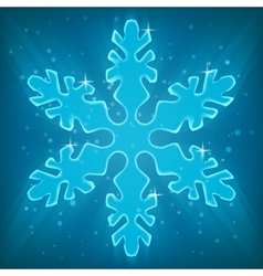 Shiny snowflake vector