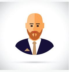 A cartoon of businessman profile vector