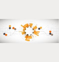 Hi-tech digital technology and engineering theme vector