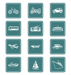 transportation icons | teal series vector image