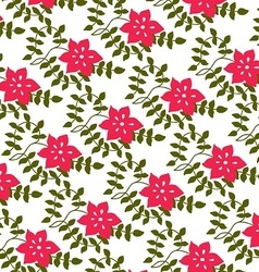 Pink flowers and petals vector