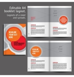 Modern abstract brochure report or flyer vector