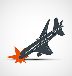 Plane crash stock vector