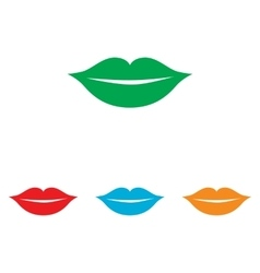 Lips sign colorfull set vector