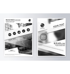 Annual report brochure business plan flyer design vector