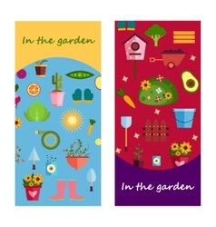 Farm life in the garden banner vector