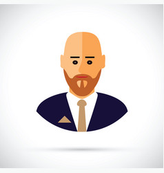 a cartoon of businessman profile vector image vector image