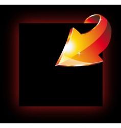 abstract arrow vector image