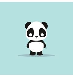 abstract cute panda vector image