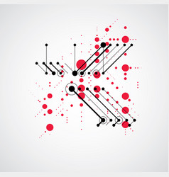 Abstract red background created in bauhaus retro vector