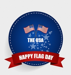 American Flag Day 14 of June Flag Day vector image