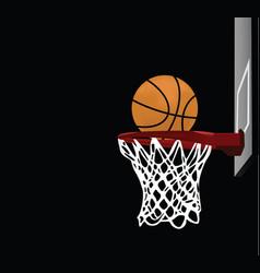 Basketball with a hoop vector