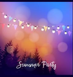 Birthday outdoor summer party or brazilian june vector