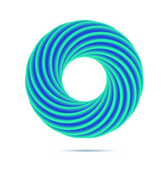 Blue business abstract circle icon for your design vector