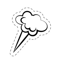 Bubble speech cloud cartoon vector