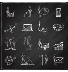 Business doodle chalkboard vector image