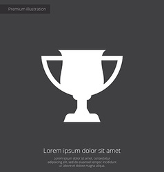 cup premium icon vector image