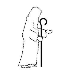 cute saint joseph silhouette character vector image vector image
