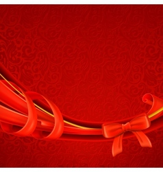 Greeting background red vector image vector image