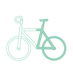 Isolated cute bicycle vector