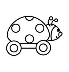 ladybug with wheels toy vector image vector image