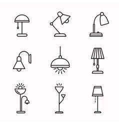 Lamps and lighting devices vector