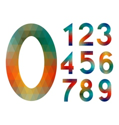 Mosaic number set vector image vector image