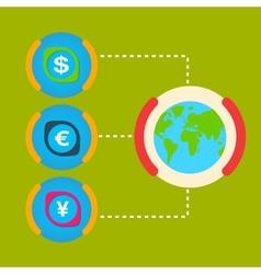 One unit of the world major cash dollar yen euro vector