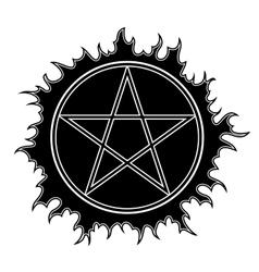 Pentagram icon vector