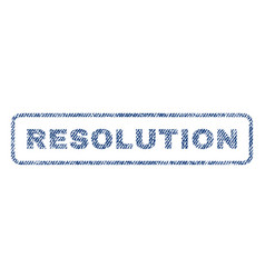 resolution textile stamp vector image
