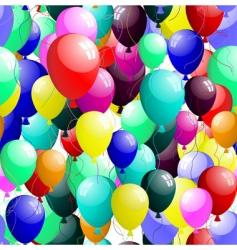 seamless balloons vector image
