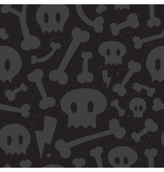 Skulls and bones black pattern vector image vector image
