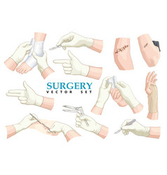 surgery set vector image vector image