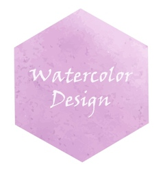 Watercolor hexagon vector image vector image