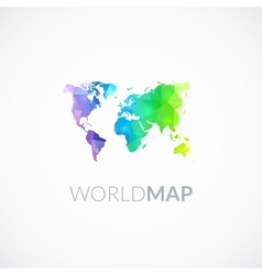 World map of rainbow color vector