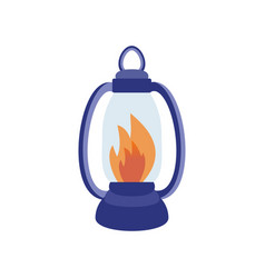 Fire torch victory champion flame icon vector