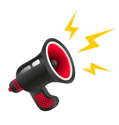 black retro megaphone vector image