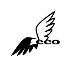 bird eco logo vector image