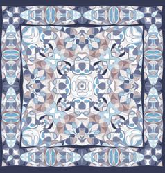 Blue colored handkerchief vector