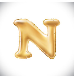 metallic gold n balloons golden letter new year vector image