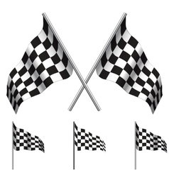 Checkered flags racing vector