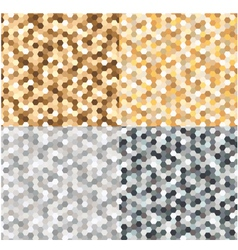 Seamless gold silver metallic background vector