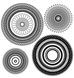 set circle 1color 4 380 vector image