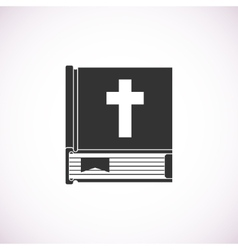 Bible book icon vector